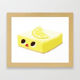 Baby Cakes - Lemon Bar Framed Art Print
