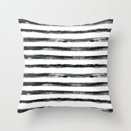 Grungy stripes Throw Pillow
