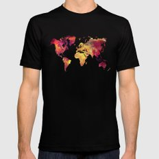 World Map after nuclear war MEDIUM Mens Fitted Tee Black