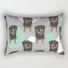 Rottweiler Mix Pattern Rectangular Pillow
