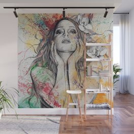 The Withering Spring I | nude tattoo woman portrait Wall Mural