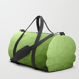Greenery ombre gradient geometric mesh Duffle Bag