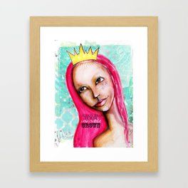 Always wear your invisible crown - part 2 Framed Art Print