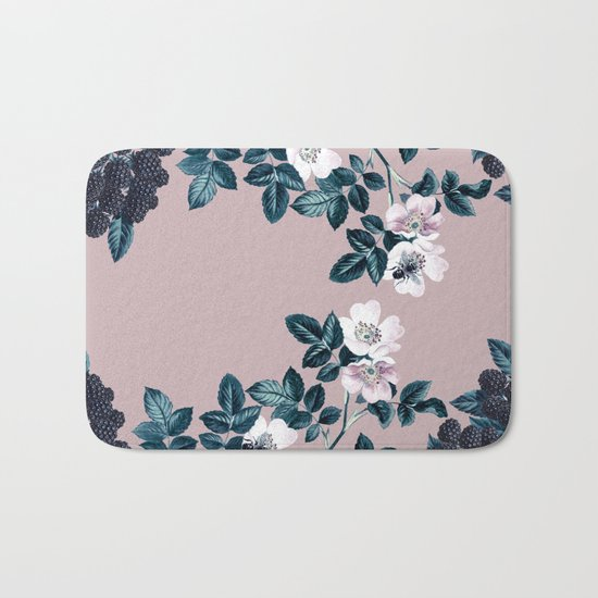 Wild Bee Blackberry Bath Mat