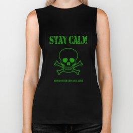 Stay Calm Pirate Flag Biker Tank