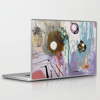 moon phase Laptop & iPad Skins featuring Pisces Moon, Phase 1 by Ysabel Price