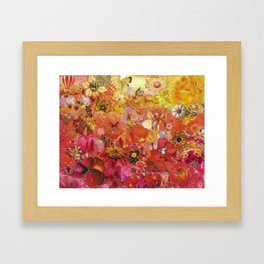 Pink Coral Yellow 2015 Framed Art Print