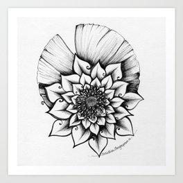 Lotus Lovely Art Print