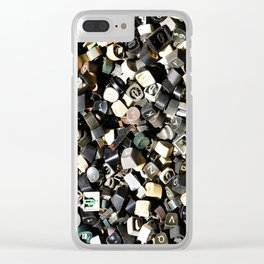 Letter Buttons Clear iPhone Case