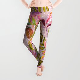 Botanical love pattern Leggings