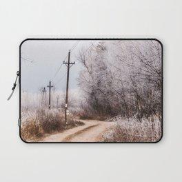 Winter in the village Laptop Sleeve