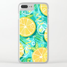 Lemon and Mint Clear iPhone Case