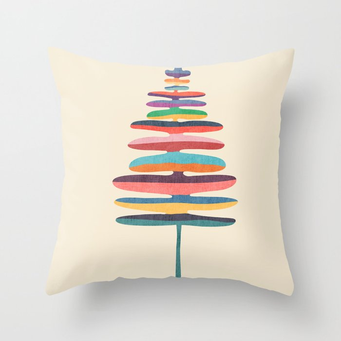 Joy Fern Throw Pillow by budikwan Society6