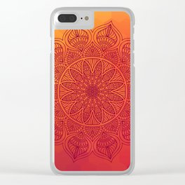 Sun Mandala Clear iPhone Case