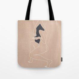 Minimalist Woman - Peach Tote Bag