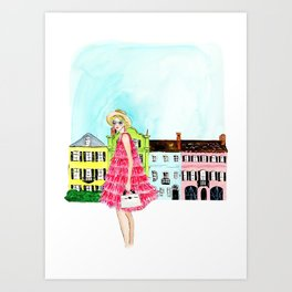 Charleston Gal Art Print