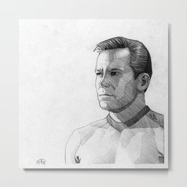 Captain James T. Kirk Metal Print