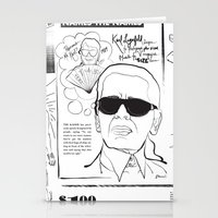 karl Stationery Cards featuring Karl Lagerfeld by CLSNYC