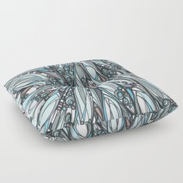 Cathedral Abstract Contemporary Art Floor Pillow