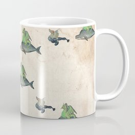 Ancient battle (collage) Coffee Mug
