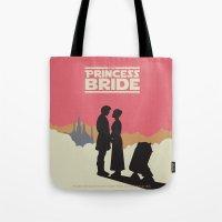 princess bride Tote Bags featuring The Princess Bride by mattranzetta