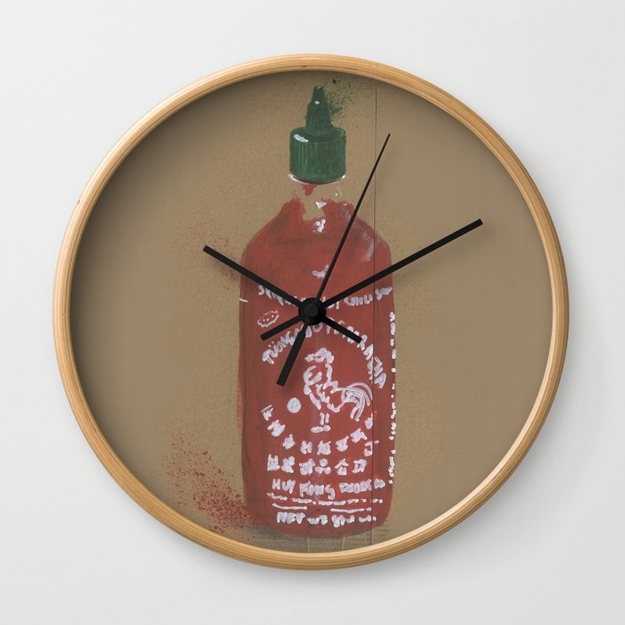 Sriracha Sauce - These are the things I use to define myself Wall Clock