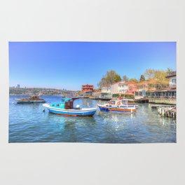 Boats on The Bosphorus Istanbul Rug