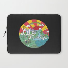Life is All Right (Color) Laptop Sleeve