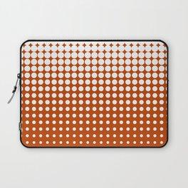 Cool modern techno shrinking polka dots white on mahogany Laptop Sleeve