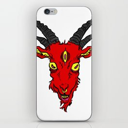 Red Devil Goat iPhone Skin