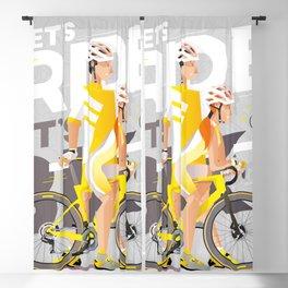 let's bike let's Ride IV Blackout Curtain