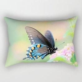 Spicebush Swallowtail Butterfly on Lantana Rectangular Pillow