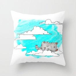 Sky Cat Throw Pillow