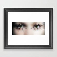 Bating her Lashes  Framed Art Print