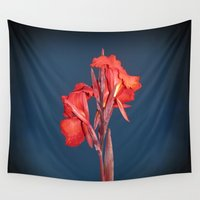 lily Wall Tapestries featuring Canna Lily by LLL Creations