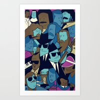 blues brothers Art Prints featuring The Blues Brothers by Ale Giorgini