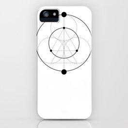 Circle Moon White iPhone Case