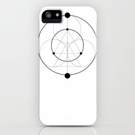 Circle Moon White iPhone Case