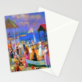 William Glackens Beach Scene Stationery Cards