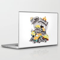 newspaper Laptop & iPad Skins featuring Newspaper Taxis by Jemma Banks
