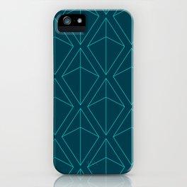 BLUE GEOMETRIC DIAMONDS iPhone Case