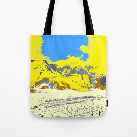 Yellow Dust On Rocky Mountain Tote Bag