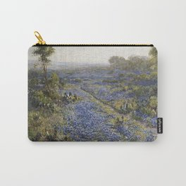 Julian Onderdonk - Field Of Texas Bluebonnets And Prickly Pear Cacti Carry-All Pouch