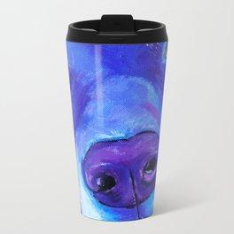 Blue Labrador Dog Metal Travel Mug