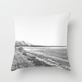 Sketch look of Cairns Coast Throw Pillow