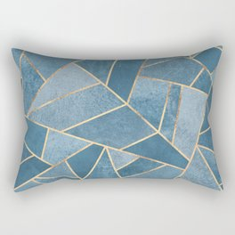 Dusk Blue Stone Rectangular Pillow