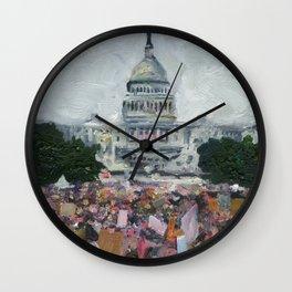 Women's March Wall Clock