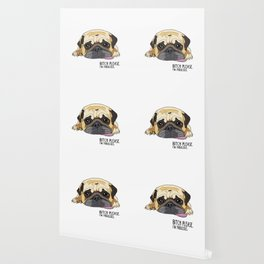 Bitch Please. I'm Fabulous. Pug Wallpaper
