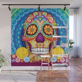 Sugar Skull Art (Incandescent) Wall Mural