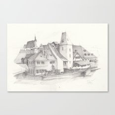 The Magic Town Canvas Print